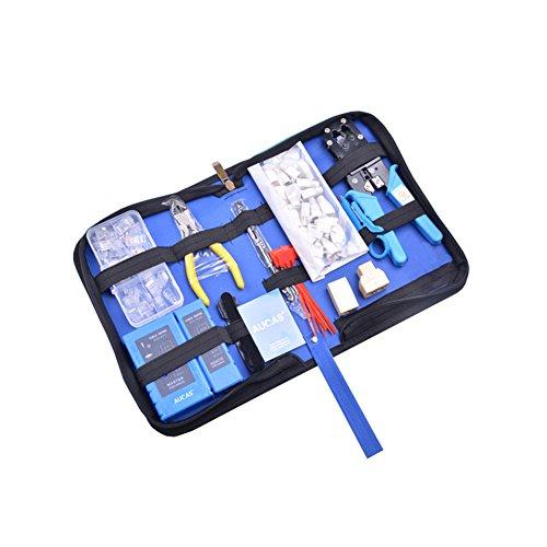 Ethernet Cable Tool Set Kit RJ11/RJ45 Cable Crimping Cat6/Cat5 USB Network Tool Kit Ethernet Cable Tester Crimper Stripper Tool Set