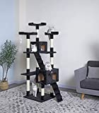 Go Pet Club Cat Tree, 33-Inch by 22-Inch by 72-Inch, Black
