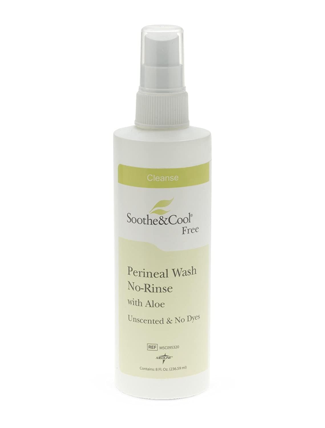 Medline MSC095320 Soothe and Cool No Rinse Perineal Spray, 8 oz (Pack of 12)