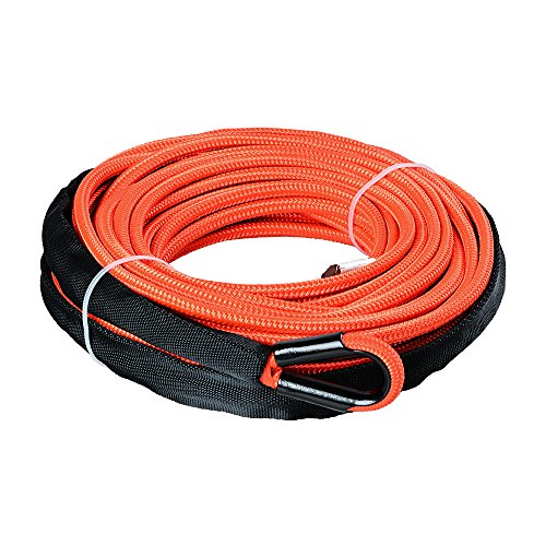 Astra Depot 50ft 1/4 inch 7000lbs Orange Synthetic Winch Rope Rock Guard Heat Guard for ATV UTV 4x4 Car Truck Protective Sleeve ()