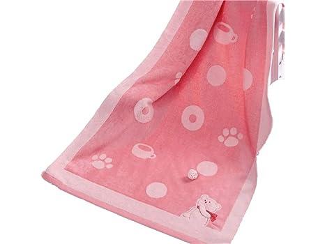 AHIMITSU Toalla acogedora Toalla de baño Absorbente del algodón del bebé del Oso de la Historieta