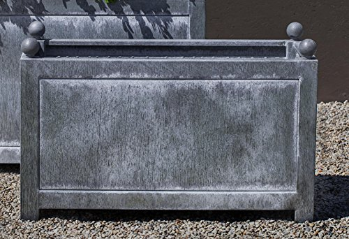 Campania International 6080-9701 Box Hill Rectangle Planter by Campania International