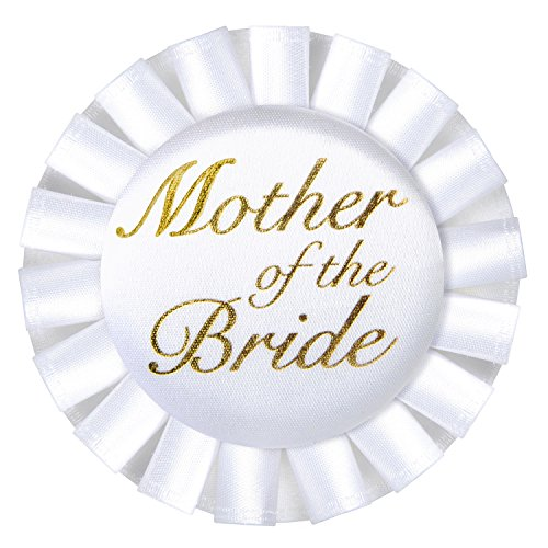 Beistle 60481 Mother of The Bride Satin Button, 3-1/2-Inch ()
