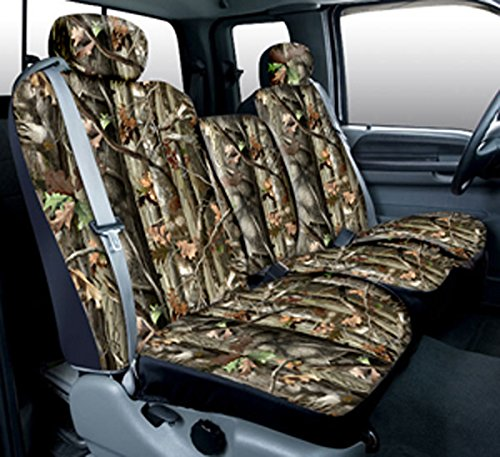 Saddleman Custom Made Front Bucket Seat Covers - Polyester Fabric (Camouflage) (91 Ford Bronco Camo Bucket Seats compare prices)