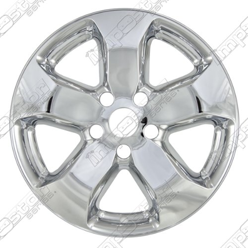 WHEEL COVER JEEP GRAND CHEROKEE IMPOSTOR WHEEL SKINS; CHROME FINISH; 5 SPOKE; ABS; 18 INCH