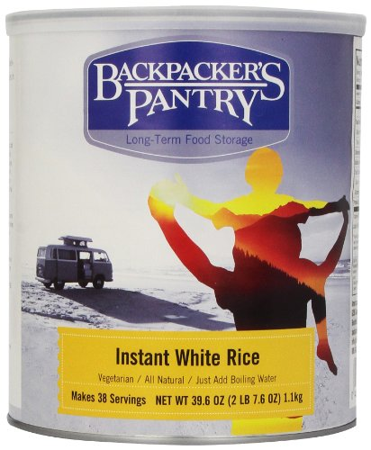 Backpacker's Pantry Instant White Rice, 39.6 Ounce, #10 Can