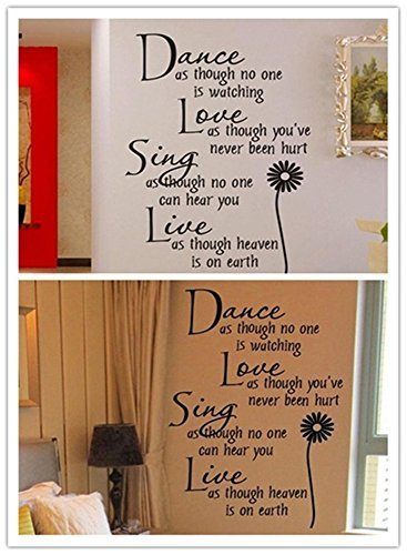Ymot101 Home Live Dance Decals Gift Quotes Ation Sing Quotes Wall