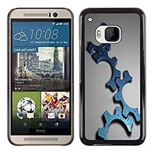 LECELL -- Funda protectora / Cubierta / Piel For HTC One M9 -- Cool Gears Machine Part Mechanic --