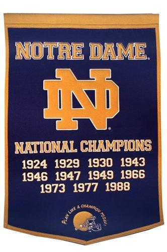 NCAA Notre Dame Fighting Irish Navy Blue Large-sized Wool