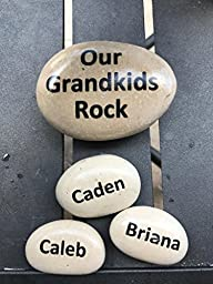 Your Family Rocks - Set of personalized stones for your family- makes great, unique gift