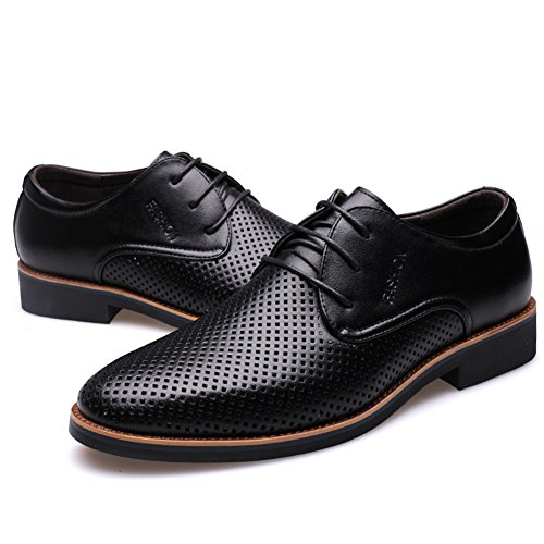 Black Black Comfort Formal HUAN Brown Walking Spring Shoes Work 2018 Casual Business up Lace for Microfiber Summer Men's Shoes wqxZOqrUY