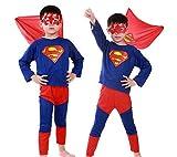 Halloween Superhero Costumes for Boys Superman Spider-Man Batman Childs Fancy Dress Party Cosplay