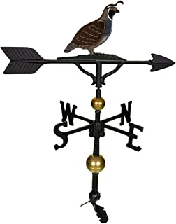 product image for Montague Metal Products Quail Weathervane, 32-Inch, Deluxe Natural