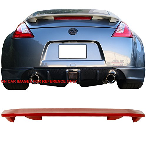Pre-painted Trunk Spoiler Fits 2009-2018 Nissan 370Z | OE Style ABS Painted #A54 Vibrant Red Boot Wing Deck Lid Other Color Available By IKON MOTORSPORTS | 2012 2013 2014 2015 (Nismo Wing)