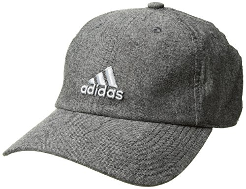adidas Women's Saturday Relaxed Cap, Black/Grey/Clear Grey, One Size (Adidas Soccer Hat)