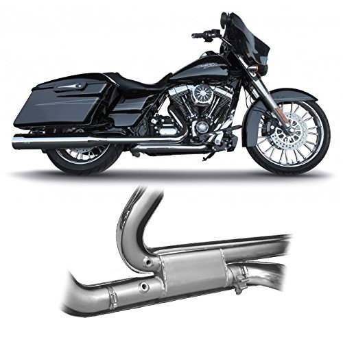 RCX310C RC Components Tormentor Headers Chrome with Ceramic Coating for 2017 & Newer FLH/FLT HD Touring Models (Hd Touring Models)