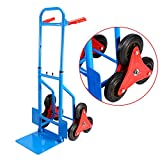 Stair Climber Hand Truck,200Kg Heay Duty 6 Wheel Sack Truck Hand Sack Cart Barrow Trolley Cart Garden Tool Home,Rubber Wheel