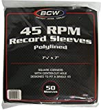 (50) BCW Brand 7'' Polylined White Paper & Plastic Record Inner Sleeves