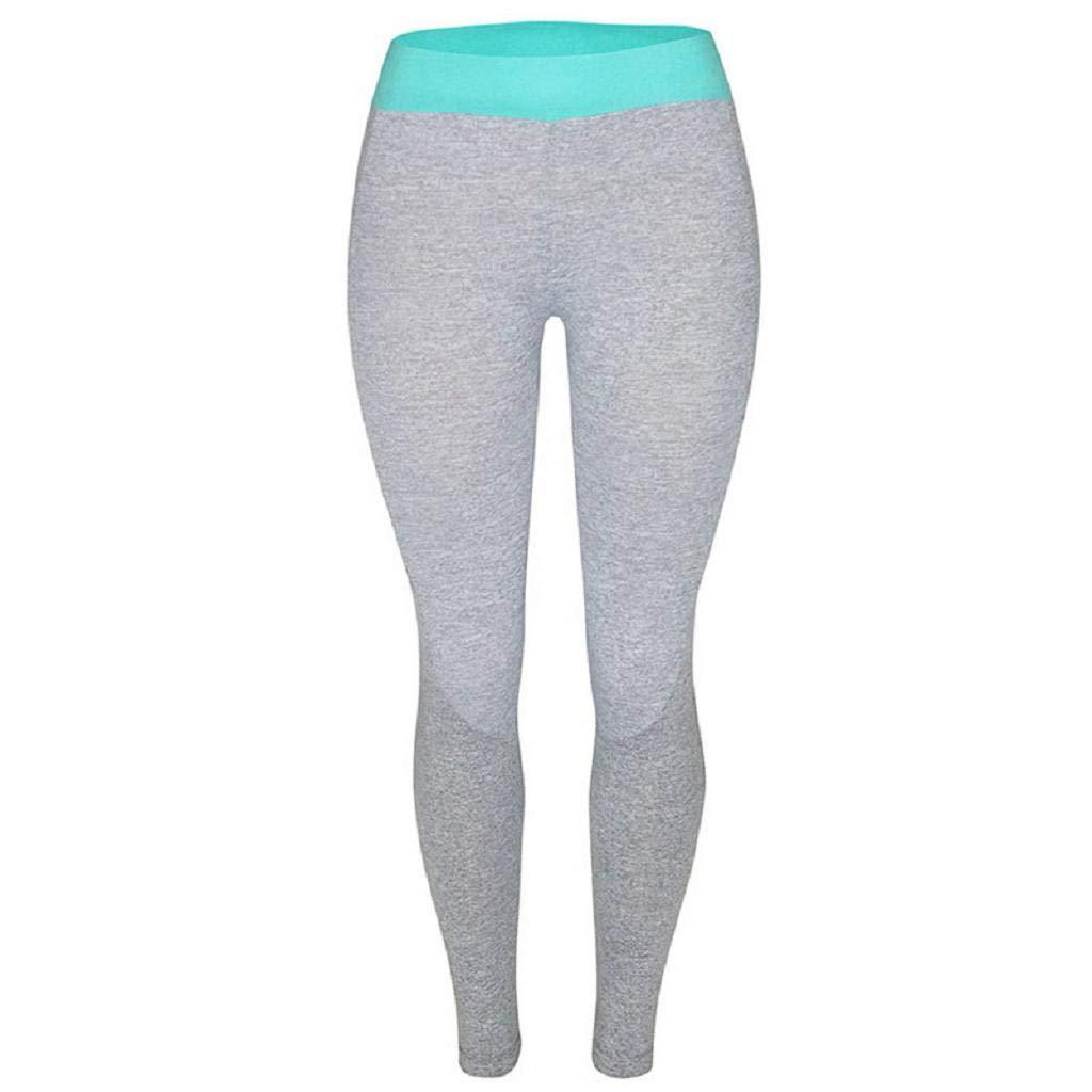 Amazon.com: SAKAMU-Women Sports Gym Yoga Workout High Waist ...