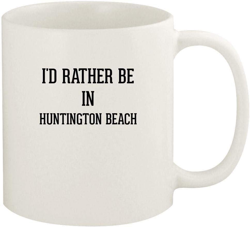 I'd Rather Be In HUNTINGTON BEACH - 11oz Ceramic White Coffee Mug Cup, White