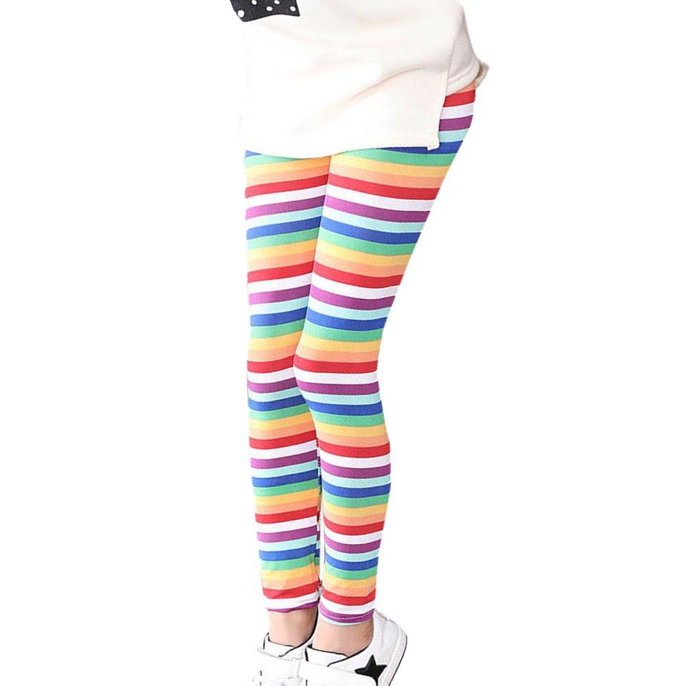 Mädchen Leggings, FNKDOR Baby Kinder Bunt Blume Hosen Silm Fit Leggins  product image a3c6e6a0c2