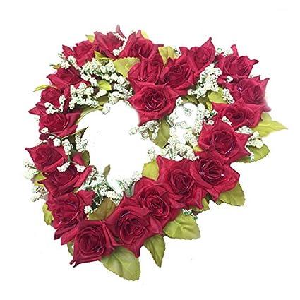 Sodial R En Forma De Corazón Corona De Flores Artificiales