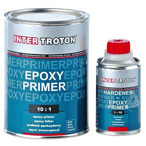 Troton 6 x EPOXY Primer 2K GRUNDIERUNG 10:1 FÜ LLER Epoxidharz 1, 1kg + HÄ RTER 2236