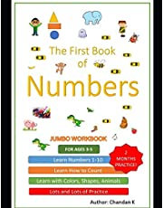 Learn Numbers: One to ten Workbook 1-10: Fun learning numbers up to 10 with activities like colouring, sketching, counting games and projects