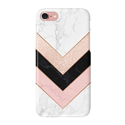 uCOLOR Case Compatible with iPhone 6S 6 iPhone 8/7 Cute Protective Case Glossy Rose Gold Marble Pink Black White Slim Soft TPU Silicon Shockproof ...