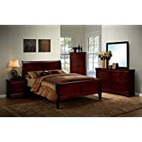 HOMES: Inside + Out ioHOMES Nathanial Contemporary Bed, Queen, Cherry