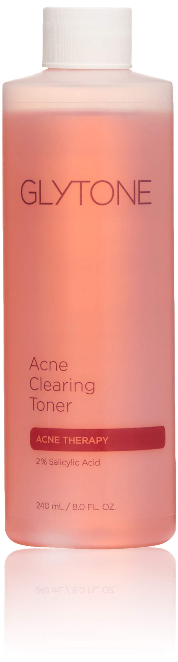 Glytone Acne Clearing Toner with 2% Salicylic Acid, Mattifying for Blemish Prone Skin, Oil-Free, Non-Comedogenic, 8 oz.