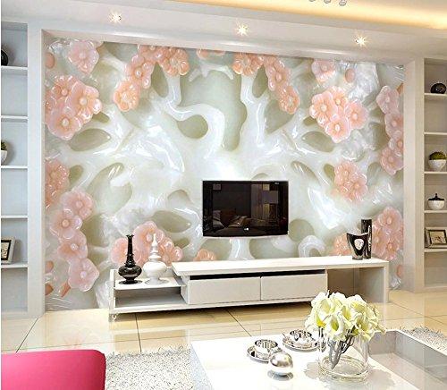 Waterfall Dolphin (Wapel Wall Mural Photo Wallpaper Jade Carving Plum Photo Wall Murals Wallpaper Home Decoration Wallpaper For Walls Silk cloth 250x175CM)