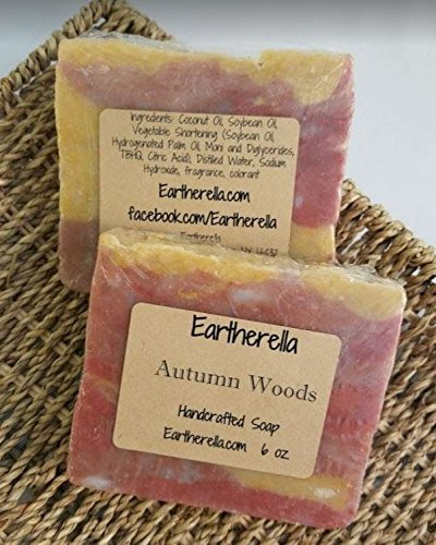 2 BARS - AUTUMN WOODS HP earthy scent handmade artisan soap bar 6 oz