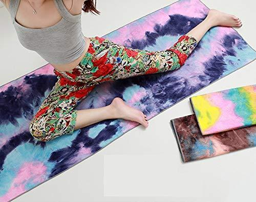 JxucTo Tie and Dye Imprimé Tapis de Yoga Serviette de Yoga ...