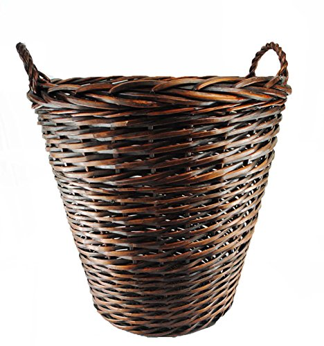 TOPOT Extra Large Heavy Duty Wicker Log Basket with Ear Handles