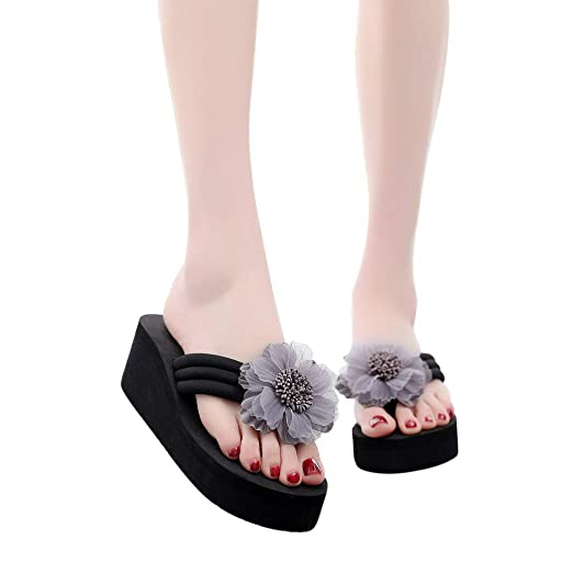 1dcd84fc1aae Image Unavailable. Image not available for. Color  Women Flower Wedges  Sandals