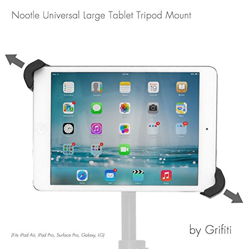 iShot G10 Pro Large Universal Tablet Tripod Monopod Stand Mount 1//4-20 Threaded Compatible with iPad iPad Pro and 8-13 Tablets