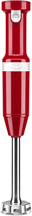 KitchenAid KHBBV53ER Cordless Hand Blender, 8 inch, Empire Red