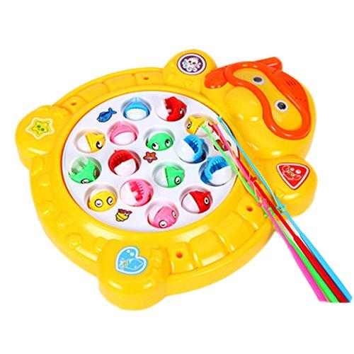 Électronique Toy pêche mis en rotation Fish Game With Music, Tortue Jaune