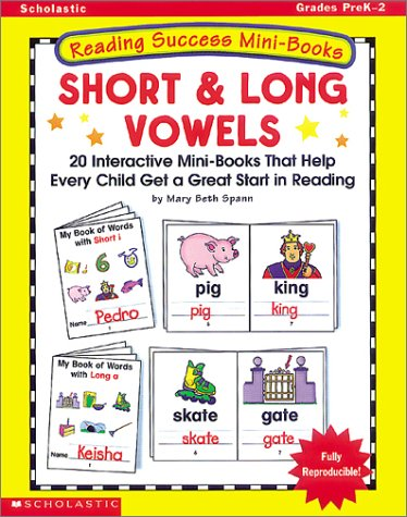 Amazon Com Short Long Vowels Twenty Interactive Mini Books That