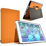 iPad Air Case - Horizon Ultra-Slim Full Body Smart Flip Cover for iPad Air (5th Generation, 2013), Orange
