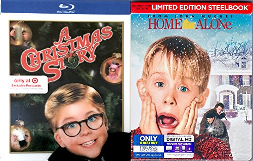 Home Alone Steelbook Christmas Classics Collection A Christmas Story Blu Ray Exclusive Holiday Bundle Movie Set