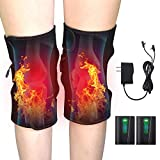 Knee Heating Pad RTDEP Knee Compression Sleeve Heated Knee Brace Wrap 1 Pair Heated Brace for Men & Women Heat Compress for Muscles Pain Relief Relax