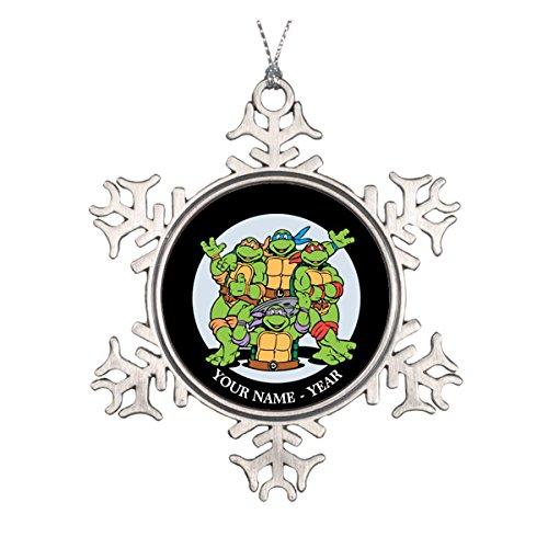 Merry Christmas from the Ninja Turtles! Personaliz Ceramic Round Christmas Ornament