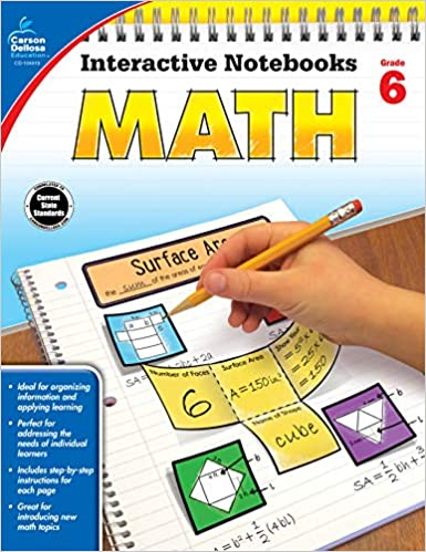 Carson Dellosa Math Interactive Notebook Grade 6 Interactive Notebooks