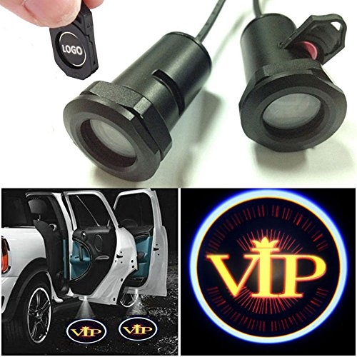 Champled For Gold Vip Car Led Laser Projector Illuminated Emblem Under Door Step Courtesy Light Lighting Symbol Sign Badge Glow Replacement Logo Film Auto Acessories