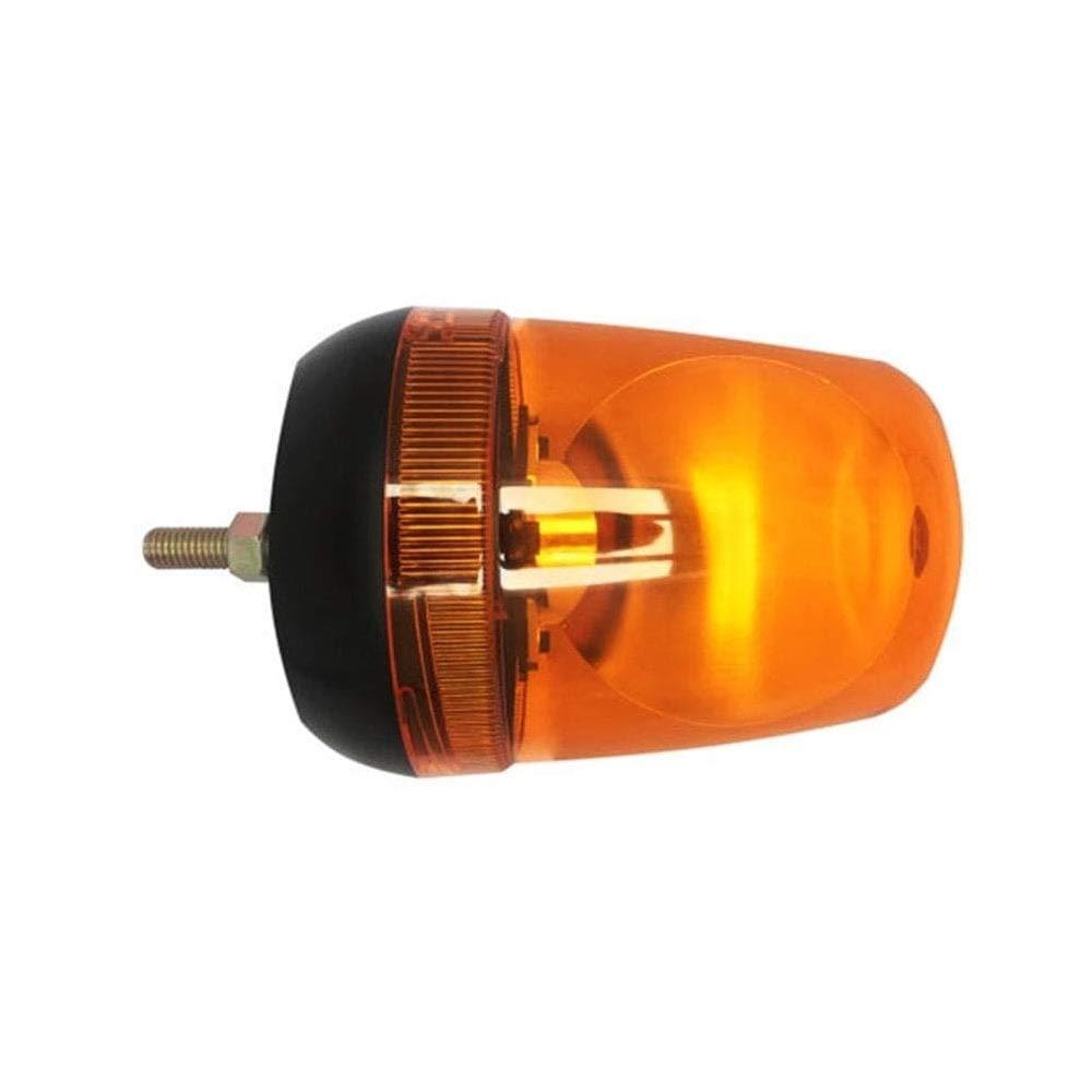 Pair of LAP amber halogen rotating flashing warning beacons 12//24V with bulbs