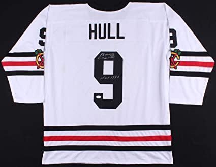 920684b9a Bobby Hull Autographed Jersey (Chicago Blackhawks) - JSA COA! at ...
