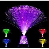Base de cristal Playlearn de color cambiante con lámpara óptica de fibra SFLCC – 4 colores – Nueva lámpara de estado de…