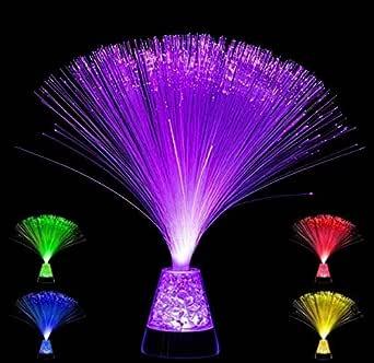 Base de cristal Playlearn de color cambiante con lámpara óptica de fibra SFLCC – 4 colores – Nueva lámpara de estado de ánimo de 33cm